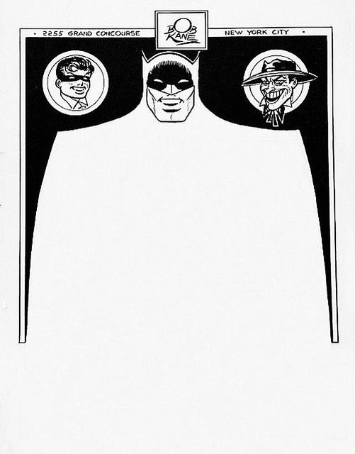 Bob Kane letterhead