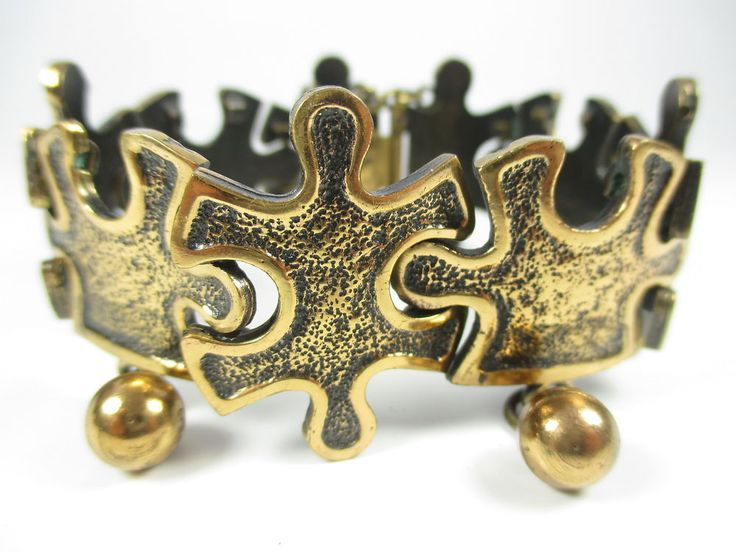 Sarpaneva Designer Armband Bronze Finnland Modernist 70er Boho #75 N4