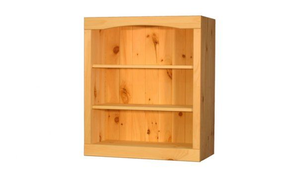 Solid Pine Bookcase 24W x 34H x 12D by TheWoodlandMills on Etsy, $119.00