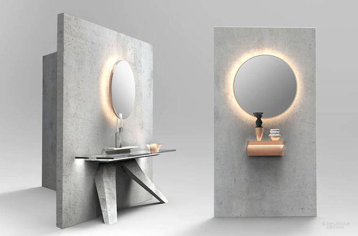 Concrete Furniture by Delatour Design Lab