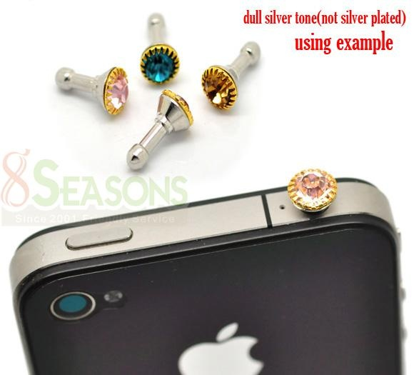 Mixed Rhinestone Dust Dustproof Plug 3.5mm for iPhone/ iPad    sell you anything. specially if its blingy