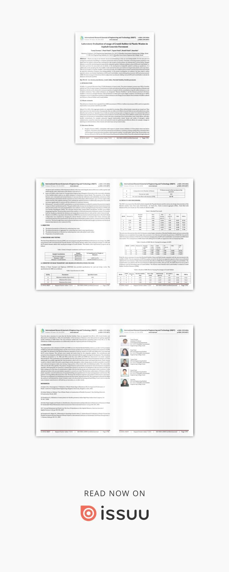 IRJET- Laboratory Evaluation of Usage of Crumb Rubber