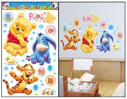 Winnie Pooh & Tiger co Baby Dekor fürs Kinderzimmer Wandtattoo/Wandsticker 90cm x 60cm aus Deutschland: Amazon.de: Baby