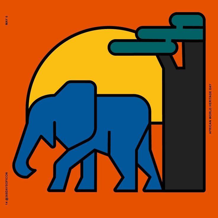 14/365 May 5 🌎 African Heritage day! #africa #african #worldtravel #volunteer #unesco #special #heritage #history #historic #historical #savannah #baobab #elephant #elephants #nature #365daysoficon #today #icon #design #icon #graphicdesign #grid #adobeillustrator #designstudio #branding #vector #line #logo #icondesign #flatdesign #pixel