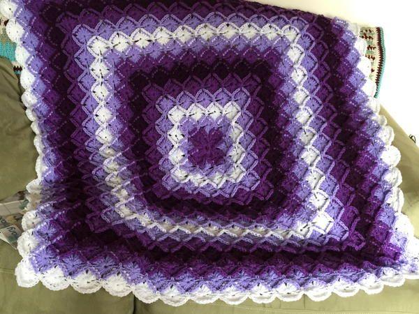 Rainbow Bavarian Crochet Blanket | AllFreeCrochetAfghanPatterns.com