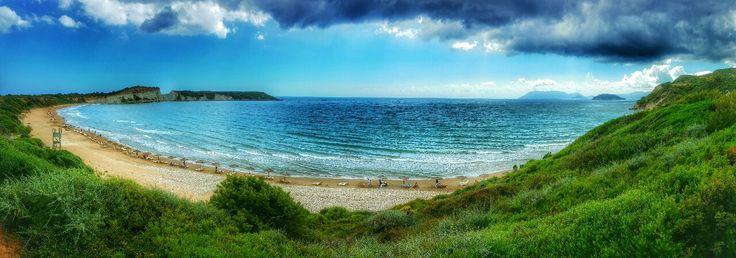 Panoramic View of Gerakas Beach on Zakynthos island Greece Photography by Alistair Ford