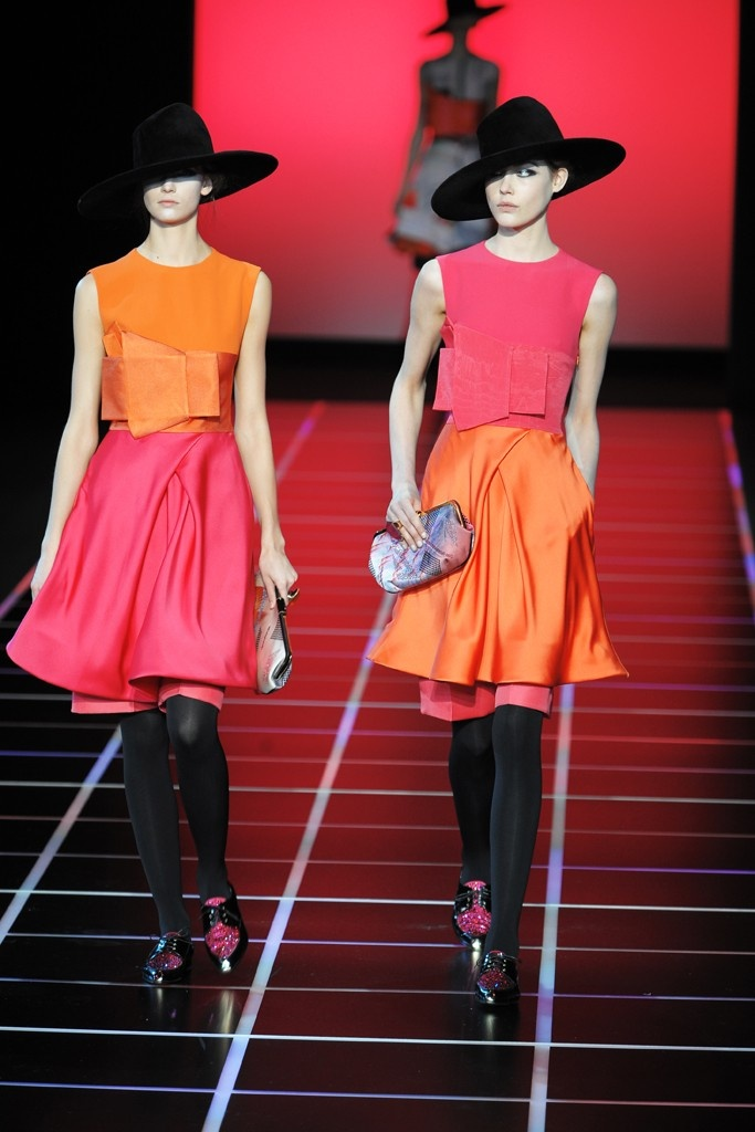 Giorgio Armani……My absolute favorite color combo is pink and orange!!