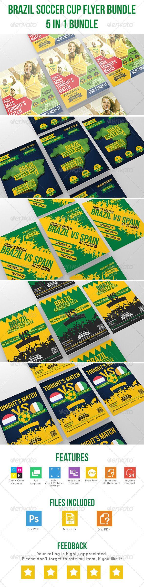 Brazil Soccer Cup Flyer Bundle by mmounirf Item Description Brazil Soccer Cup Fl…