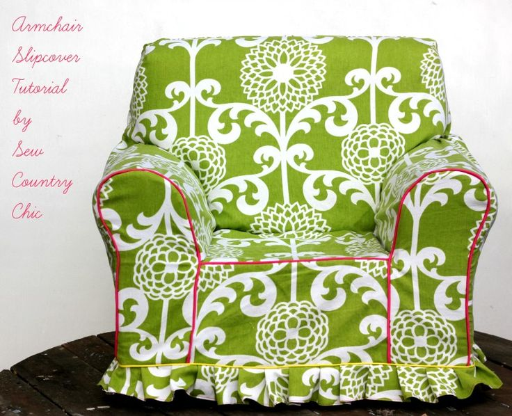 Armchair Slipcover Tutorial: #Waverize | Sew Country Chick- DIY fashion and style | Bloglovin'