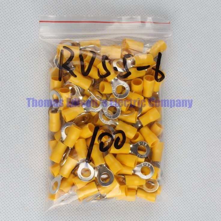 3.1$  Buy here - RV5.5-6 Yellow Ring insulated terminal cable Crimp Terminal suit 4-6mm2 Cable Wire Connector  100PCSPack RV5-6 RV   #magazineonline