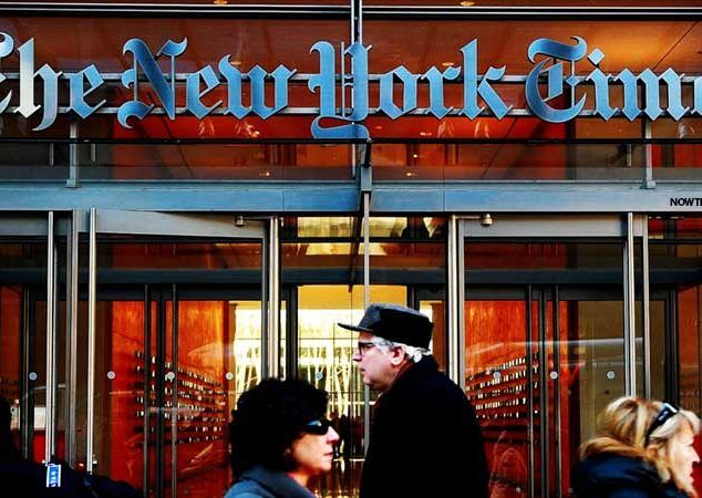 """FAKE NEWS FALLOUT: New York Times, who published endless fake news stories telling the world that HIllary Clinton would be Donald Trump in a landslide, is losing revenue at a frantic pace. As readers leave in droves, the old """"gray lady"""" is now forced to rent out the top 8 floors of their own headquarters because they need renters income to pay their bills. To which I say....ha ha ha. Take THAT, fake newers. #FakeNews…"""