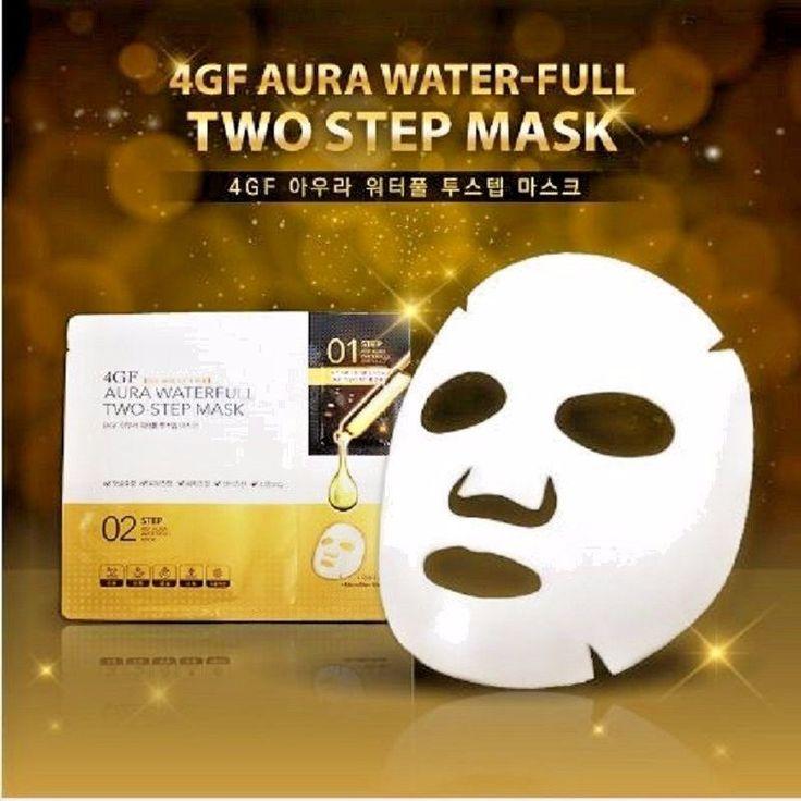 2 Step Microfiber Sheet Mask Galactomyces High Concentration Essence Brightening #ecodeforet