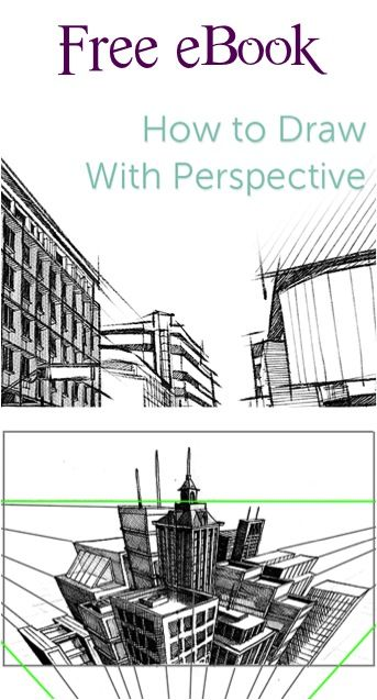How to Draw with Perspective: FREE e Book with Drawing Tips and Tricks!