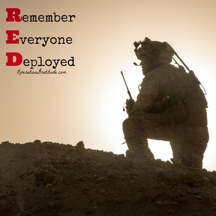"Support and thank our troops and veterans EVERY day, and on Fridays wear RED to ""Remember Everyone Deployed""!  (U.S. Marine Corps photo by Cpl. Akeel Austin. Used with permission.)  ‪#‎REDFriday‬ ‪#‎RememberEveryoneDeployed‬ ‪#‎OperationGratitude‬"