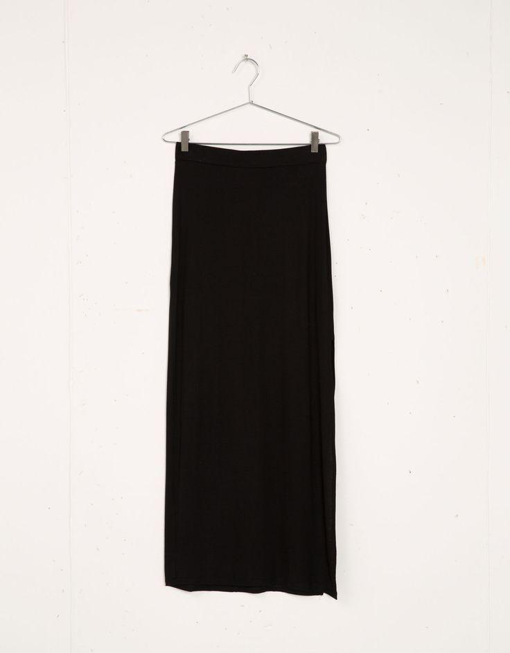 Falda larga Bershka corte lateral - Bershka - Bershka España - 9,99