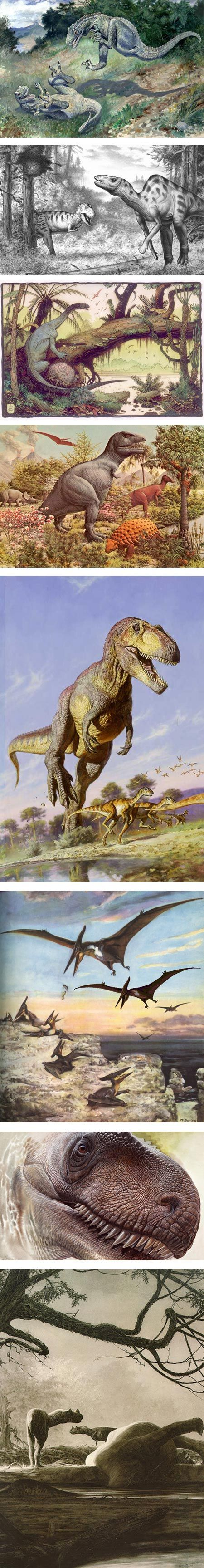 Picturing Dinosaurs on Tor com  Charles R  Knight  Robert F  Walters  William Stout  Rudolph Zallinger  James Gurney  Zden  k Burian  Peter Schouten   Douglas Henderson