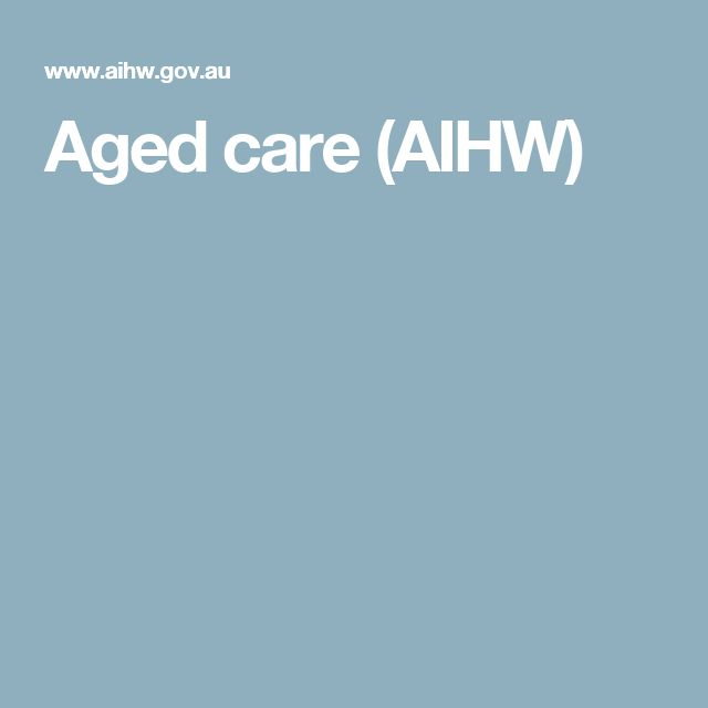 Aged care (AIHW)