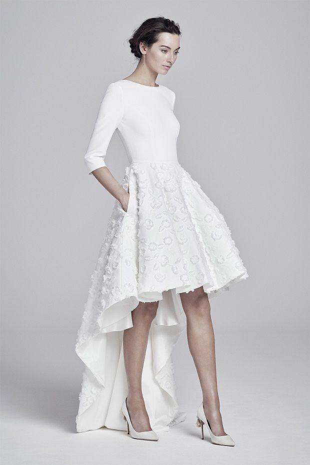 Short Wedding Dresses Mini Knee Length And Midi Dillards Loveable Short Wedding Gowns Weddi Short Wedding Dress Midi Wedding Dress Courthouse Wedding Dress