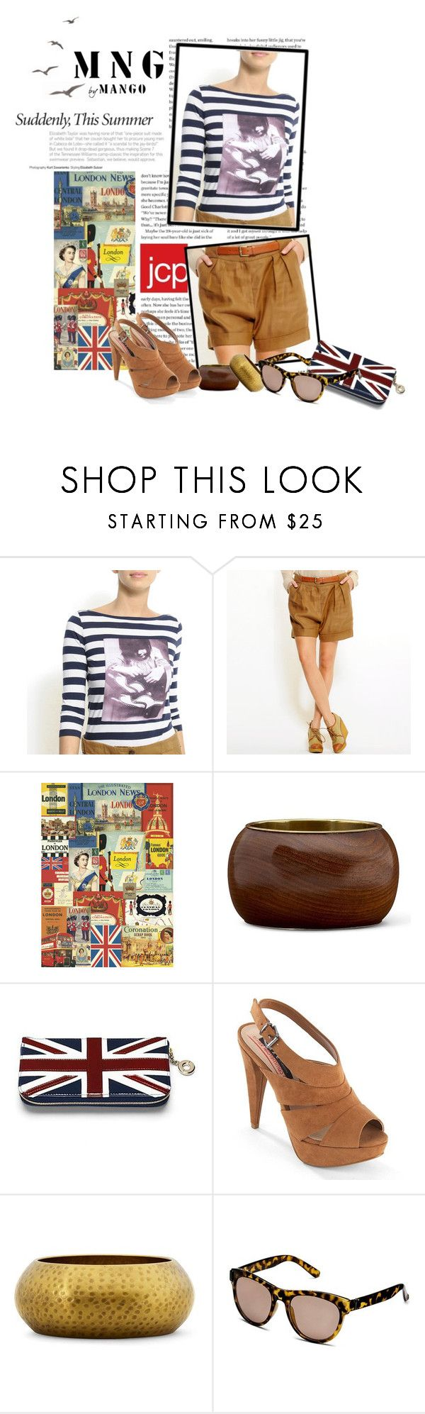 """""""From Europe to You: MNG by Mango at jcpenney (:"""" by cherrybomb101 ❤ liked on Polyvore featuring MNG by Mango, Cavallini, Aspinal of London, jcpenney, european and mng by mango"""