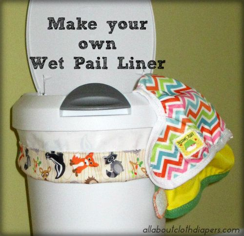 Saving money while getting crafty. What could be better? This diaper pail is easy to do and you can customize it with whatever pattern you like.
