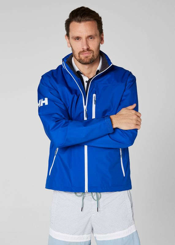 Crew Jackey Olympian Blue by Helly Hansen - a modern day classic! Shop it at mallofnorway.com #hellyhansen #allthingsnorwegian #mallofnorway #norwegianfashion