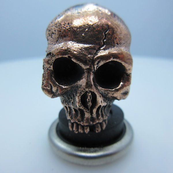 Ancient Skull Paracord Bead in Copper by Lion ARMory