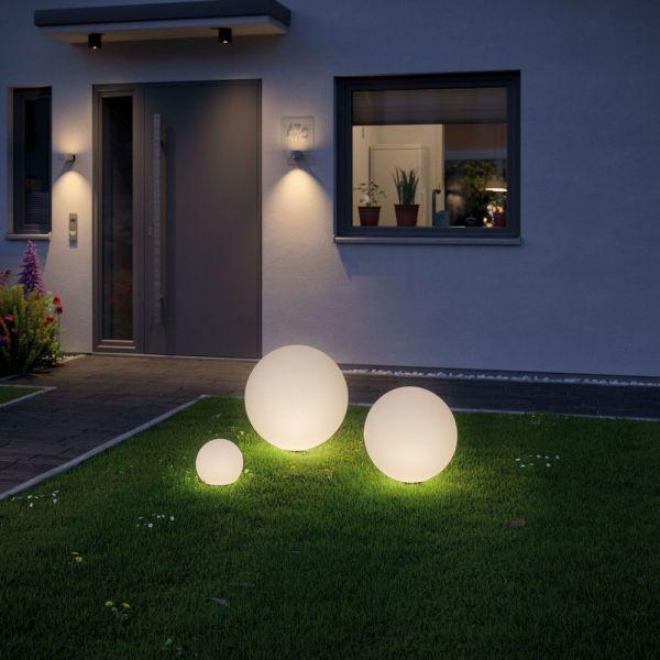 Led Plug Shine Lichtkugel In Weiss Ip67 Warmweiss 24v Paulmann Lichtkugeln Aussenleuchten Lampen Garten