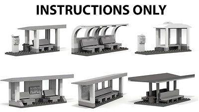 LEGO INSTRUCTIONS to build 6 custom Bus stops for LEGO Modular City, NO BRICKS | Toys & Hobbies, Building Toys, LEGO | eBay!