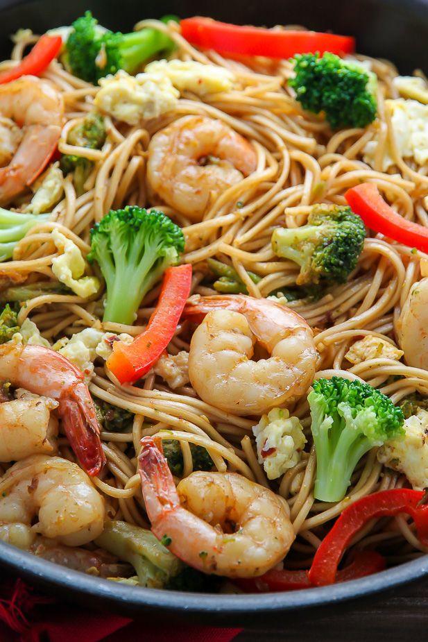 20-Minute Shrimp and Broccoli Lo Mein