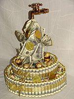 Денежный торт 2-х ярусный из конфет 73439820