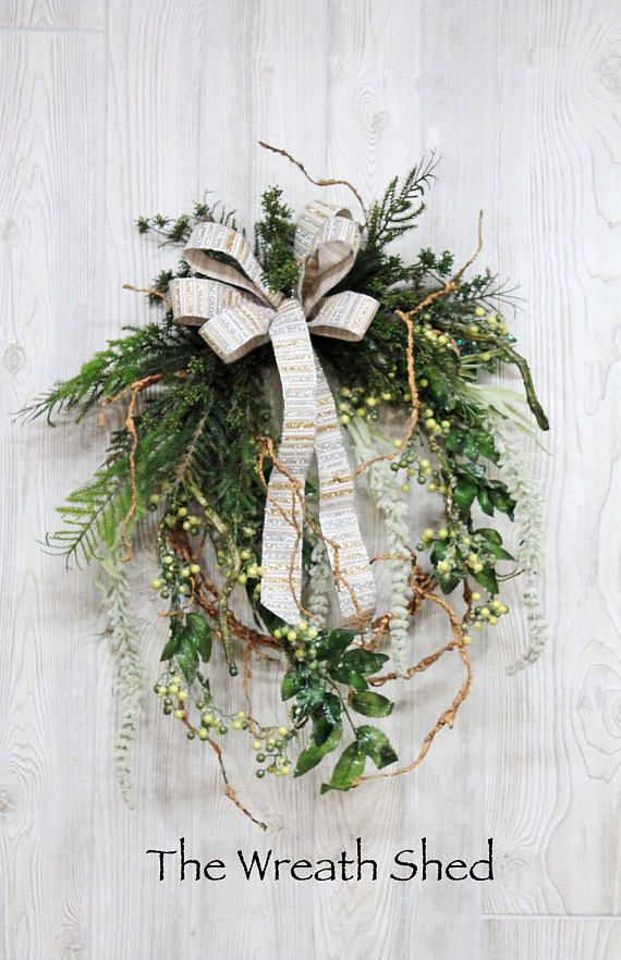 Ships Free Ice Winter Wreath Christmas Wreath