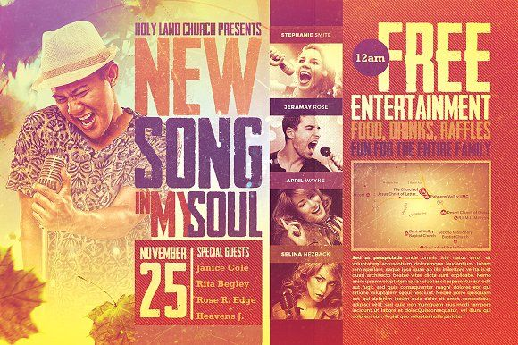 New Song Church Flyer Template by SeraphimChris on @creativemarket