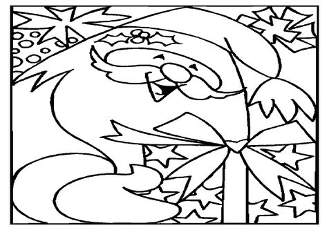 christmas santa coloring page image clipart images grig3org