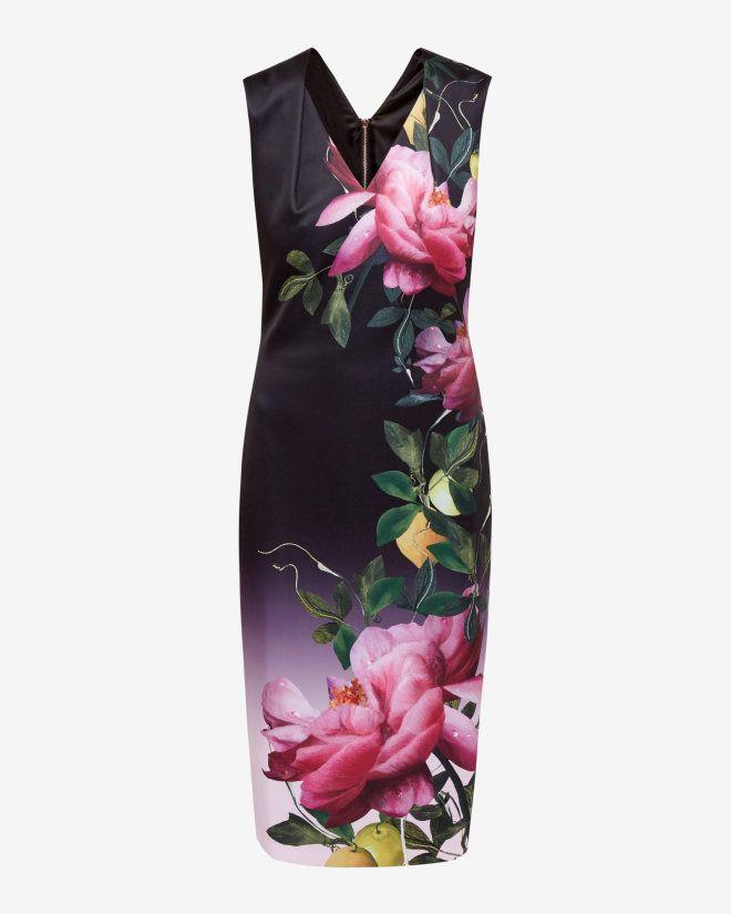Citrus Bloom midi dress - Pink | Dresses | Ted Baker