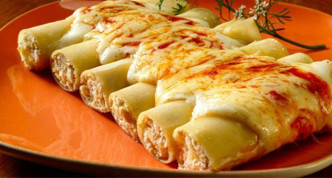 receita canelone queijo