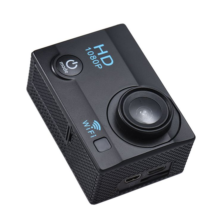 "2"" LCD 12MP 1080P WiFi Action Sports Sales Online black - Tomtop.com"