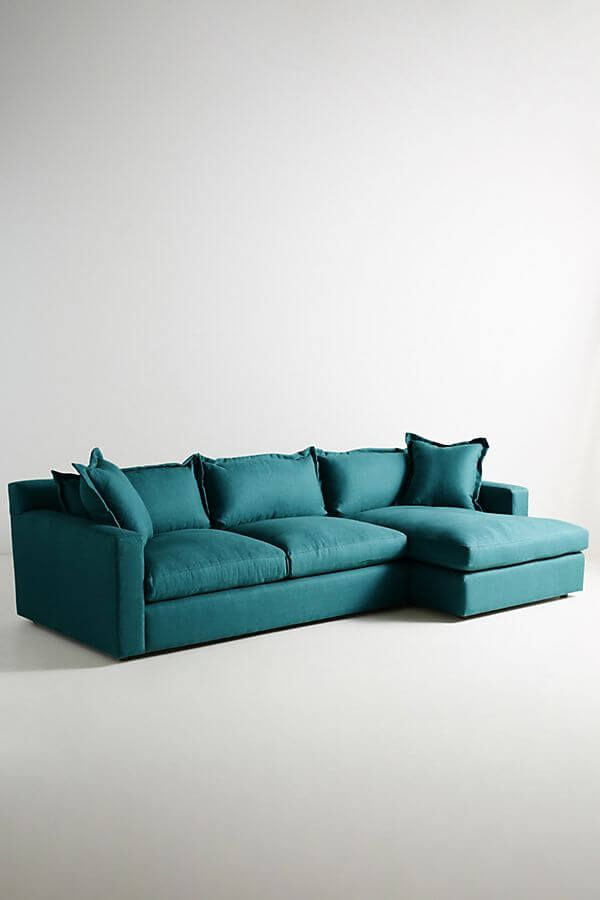 Sectional Settee Design From Anthropologie In Dragonfly Color Nonagon Style Modern Couch Couch Design Modern Couch Design