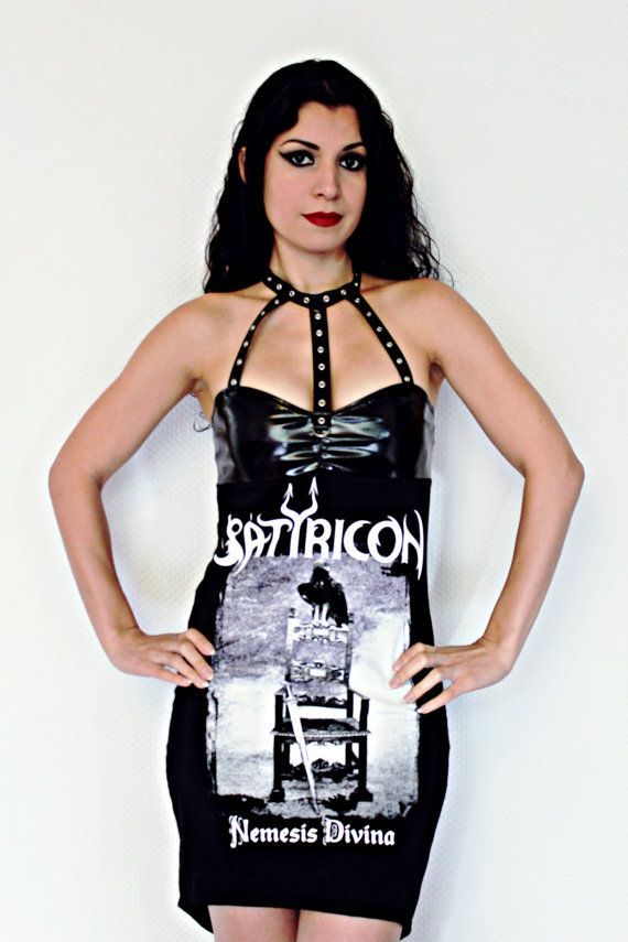 This stunning Satyricon mini dress is sure to turn heads! I used an original Mens shirt and made the bust from scratch using black shiny PVC