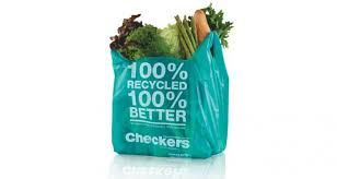 Checkers 100% recycled shopping bags