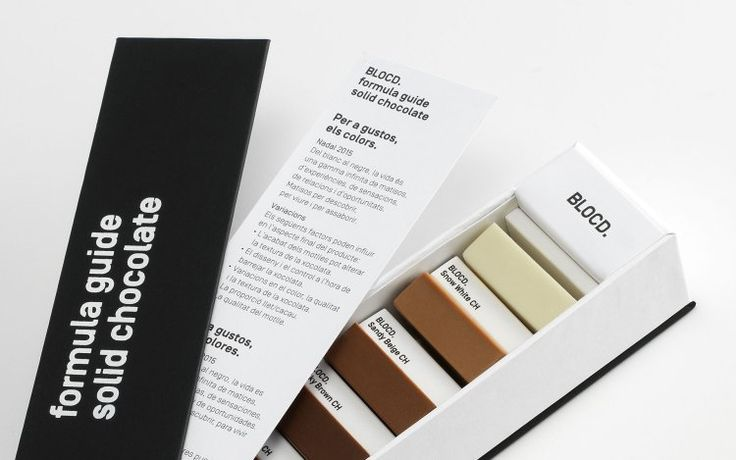 The design and communication company BLOCD. in Barcelona, Spain dreamed up an ingenious gift for their esteemed clients – a beautiful box of chocolates expertly packaged as a Pantone Color Guide.