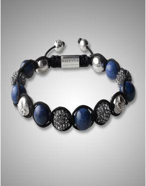 Italian Crystal Blue Jade Bracelet