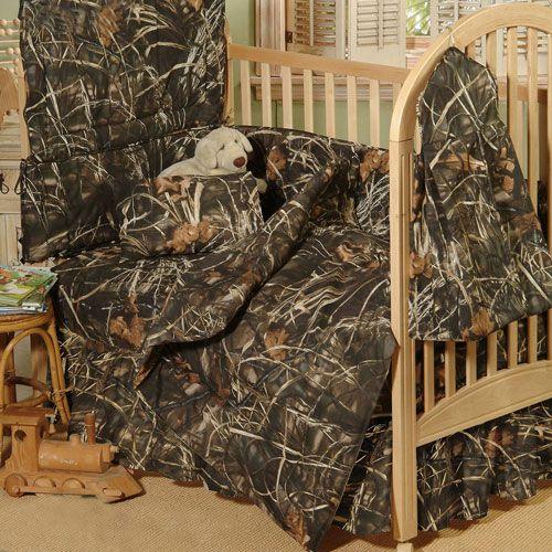 8 Pc Realtree® Advantage Max-4 Camo Baby Bedding Crib Set