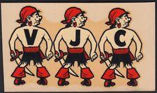 Ventura Junior College _VERY RARE 1940's Decal VTG VJC Pirates California AR GEM