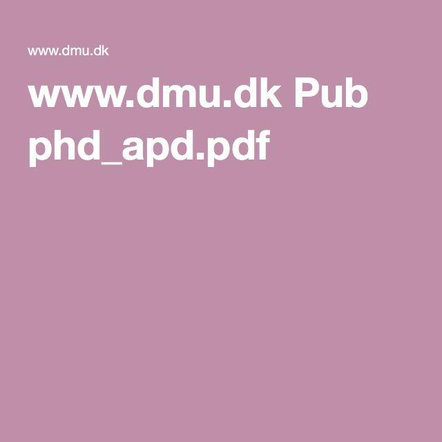 www.dmu.dk Pub phd_apd.pdf