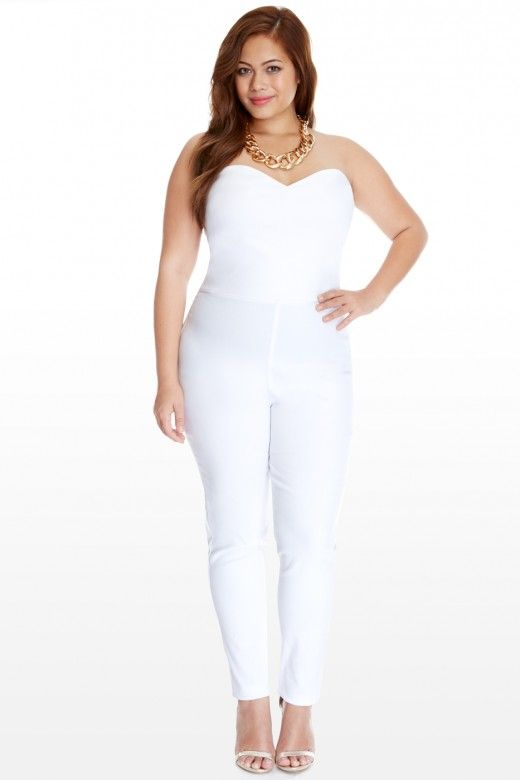 Stratus Strapless Jumpsuit. Thinking about a white party for my birthday in 2016.
