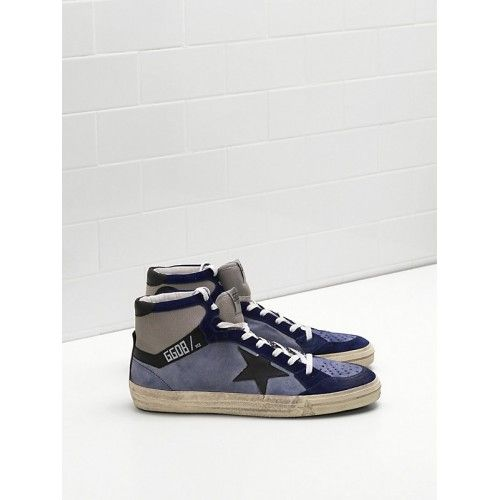 GGDB Heren - Goedkoop 2017 Golden Goose GGDB 2.12 Heren Sneakers Zwart Purper