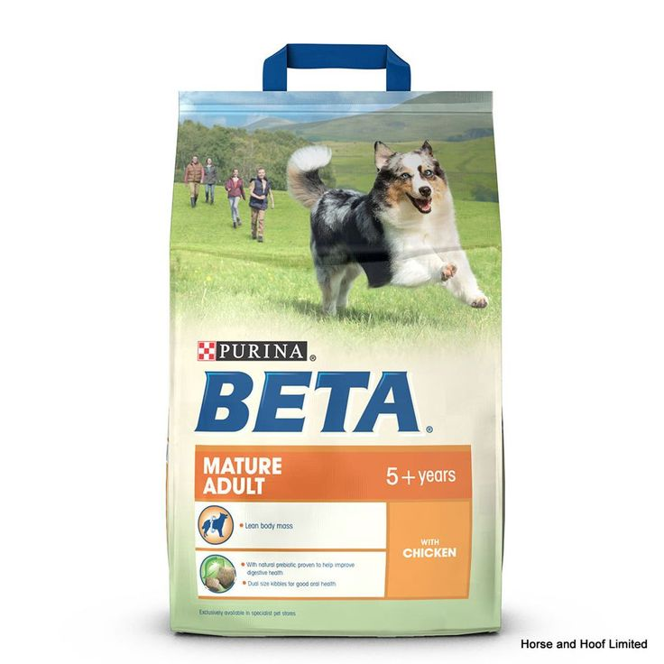 Beta Mature Adult with Chicken Beta Mature Adult with Chicken has been designed to suit adult dogs that have begun to show the first signs of ageing & slowing down.