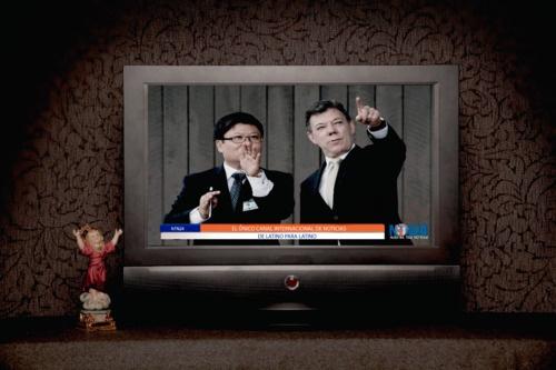 """Copy: """"NTN24 el único canal internacional de noticias de latino para latino"""".   Cliente:NTN24  Medio:Print  Referencia: Niño Dios"""