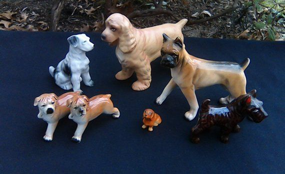 Boxer-Statue Figurine de collection Figurine Rare Sculpture de chien