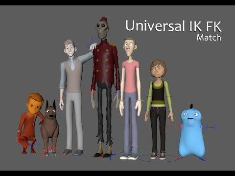 Universal IK FK Switch and Match Tool for Maya - Free Character